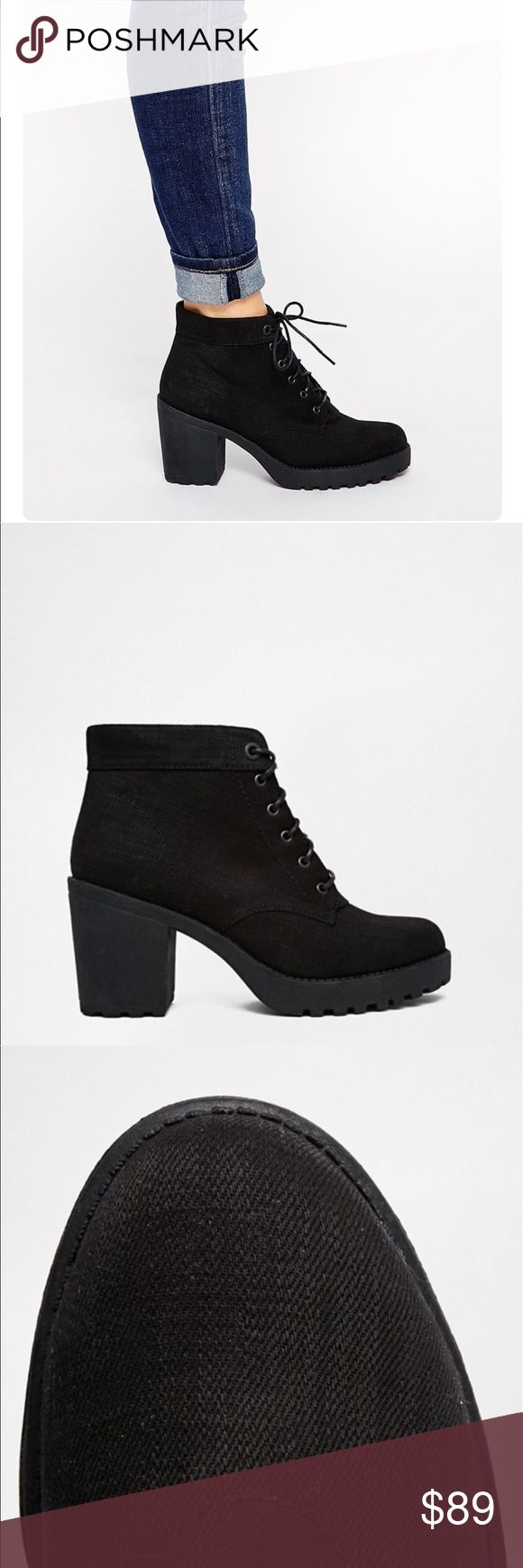 ASOS Vagabond Boot Black bootie from ASOS. Worn once. Excellent condition. Sold out online. ASOS Shoes Ankle Boots & Booties