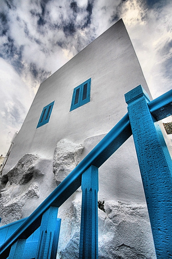 Nestling in Blue and White, Island of Nicyros, Greece *