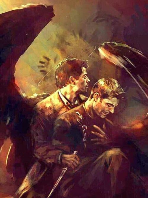 Ugh I'm shipping Destiel so bad rn and this fan art is making me lose my damn mind❤️