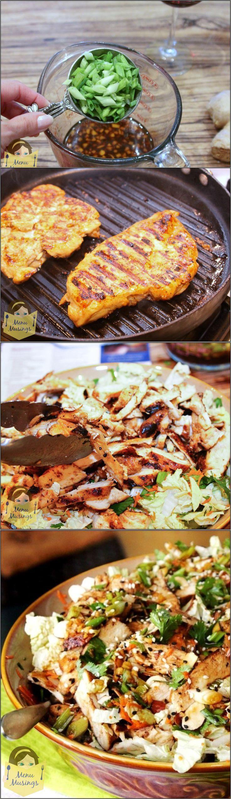 Ginger-Sesame Chicken Salad - grilled chicken, salty soy, sweet hoisin ...
