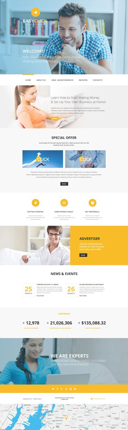 web templates for business