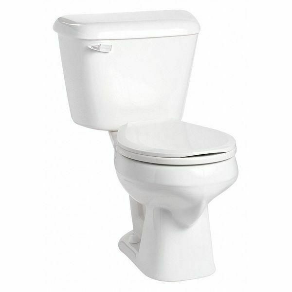 Mansfield 130 3173 Wht 1 2 Gpf Gravity Fed Floor Mount Round Tank Toilet Toilet Toilet Seat Cast Iron Kitchen Sinks