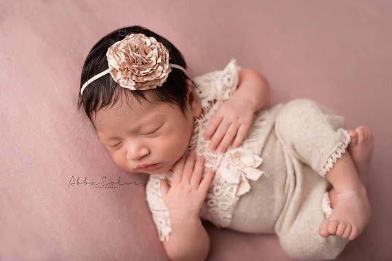 Große Spitzen Blume Haarband Stirnband Baby Mädchen Haarschmuck Fotoshooting NEU
