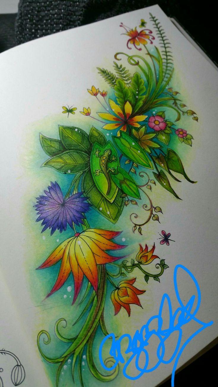 Johanna Basford Magical Jungle Adult Colouring By Colourist Cazazzled