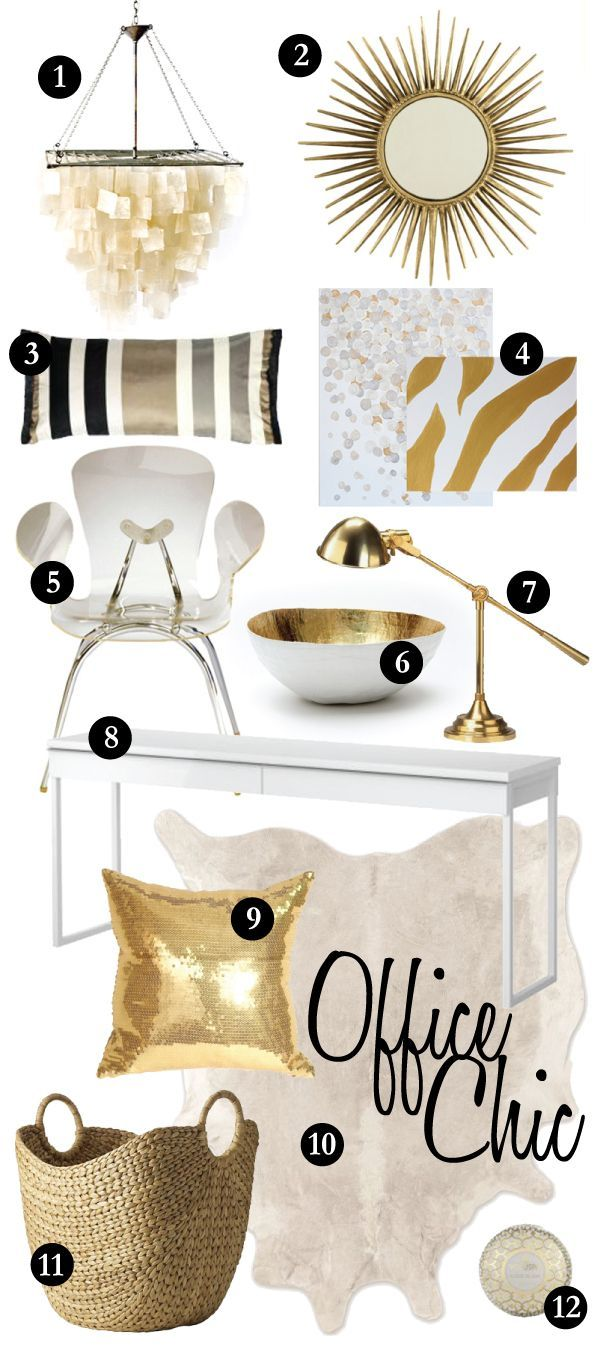 White and Gold office