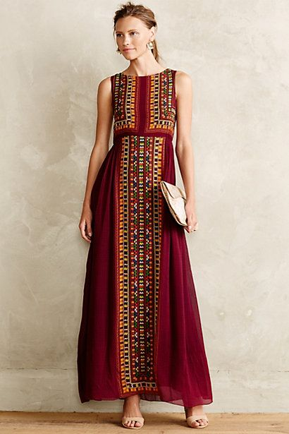 Farb-und Stilberatung mit www.farben-reich.com - Bajwa Maxi Dress #anthropologie #anthrofave