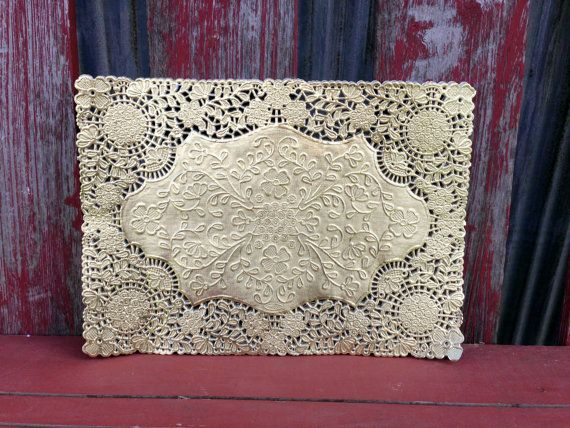 """Gold Doily 