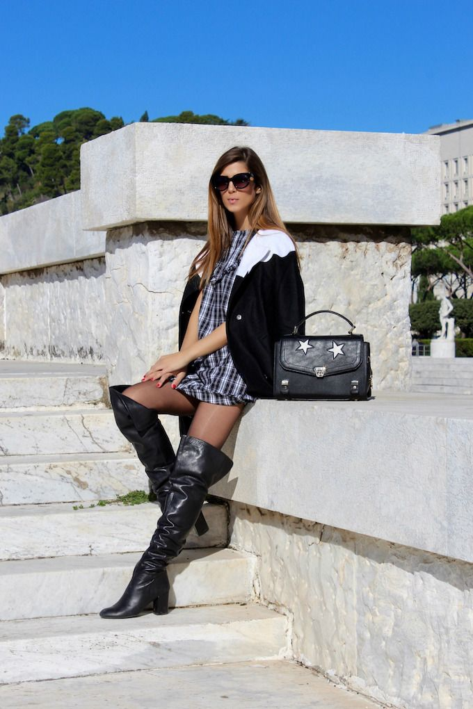 www.streetstylecity.blogspot.com Fashion inspired by the people in the street sexy leather otk boots 7stivali-di-pelle-sopra-al-ginocchio