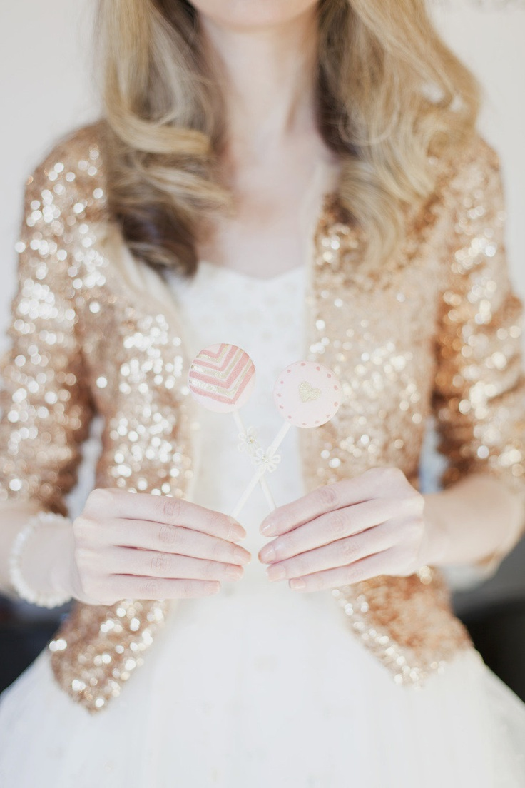 Beautiful sparkly cardigan + dress = lovely