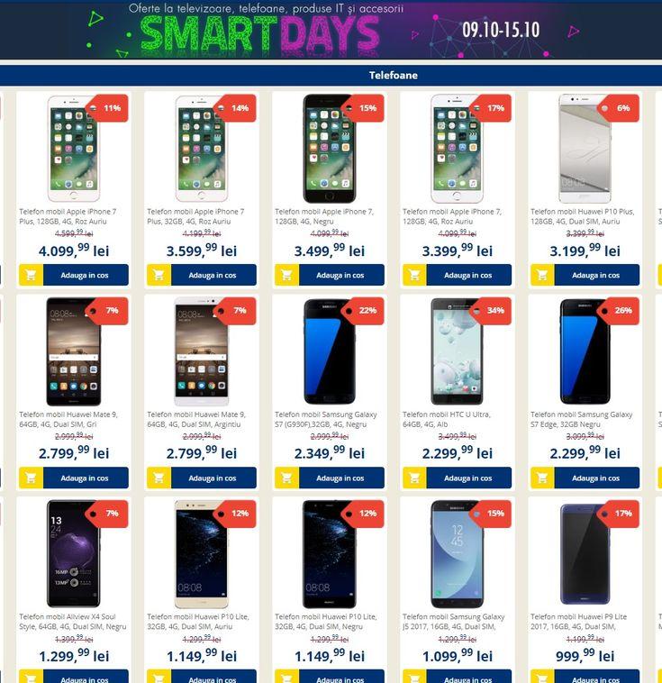 Catalog Flanco Oferta Smart Days Octombrie 2017! Oferte: Telefon mobil Samsung Galaxy S7 (G930F),32GB, 4G, 2.999,99 lei; Ochelari realitate virtuala