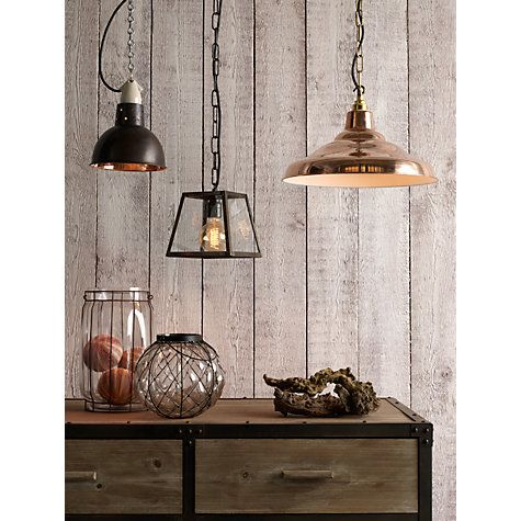 Buy Davey Lighting Factory Ceiling Light Copper Online At Johnlewis