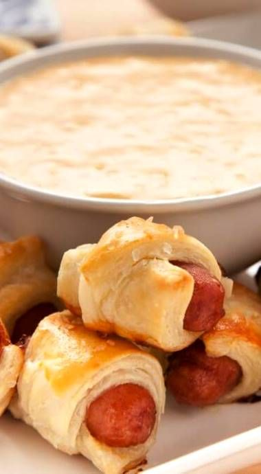 Pigs in a Blanket with Beer Cheese Fondue
