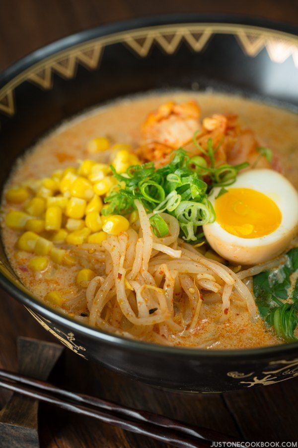 Vegetarian Ramen - Spicy Soy Milk Ramen | Easy Japanese Recipes at JustOneCookbook.com