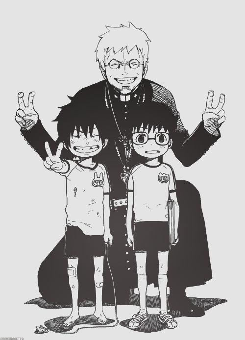 Ao no Exorcist   Blue Exorcist   Rin & Yukio Okumura, Shirou Fujimoto   Anime   Fanart   SailorMeowMeow
