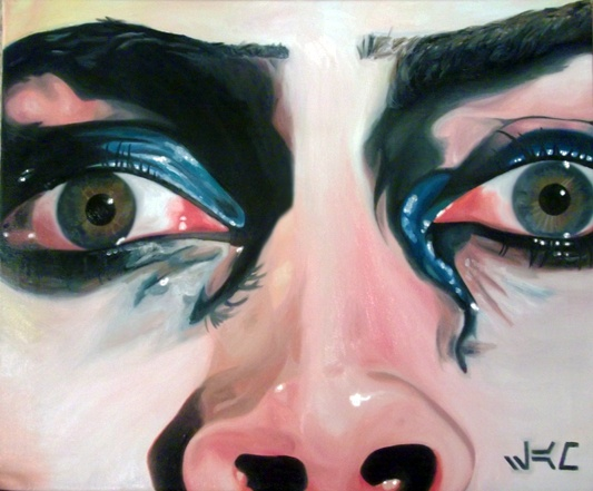 """""""I'm Going Home""""  Oil on canvas  16 x 20""""    …Only took me like, three days. So. :]  There are still a few details I need to fix, though. ...It's Frank-N-Furter, by the way. From Rocky Horror."""
