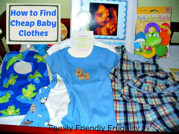Adorable cheap baby clothes. Great tips!