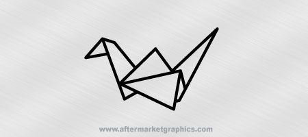 Paper Crane Decals - Pair