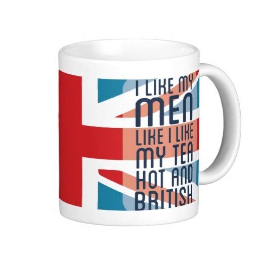 Hot & British Men & Tea Mugs= love