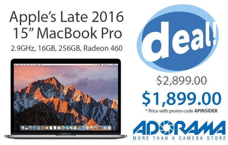 """Lowest price ever: #Apple's high-end 15"""" #MacBookPro w/ Radeon 460 for $1,899 ($1,000 off) #Apple #topicoftheday #love #instagood #picoftheday #bestoftheday #CaseiPhone #iPhoneCase #MacbookCase #AppleWatchCase #AppleWatchBand #iPhone6 #iPhone6Plus #iPhone6s #iPhone6sPlus #iPhone7 #iPhone7Plus #iPhone8 #iPhone8Plus #iPhoneX"""