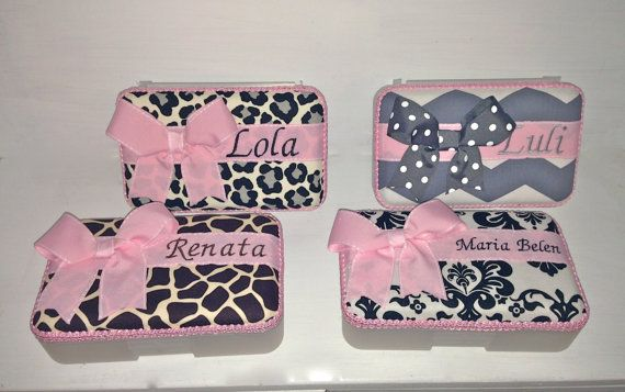 Personalized Pencil Box/Case In Several Fabric Options. by CeeJaze