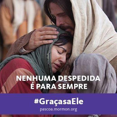 """""""Ele morreu para que todos possam viver de novo"""" –Thomas S. Monson #GracasaEle #BecauseofHim #SUDportugues"""