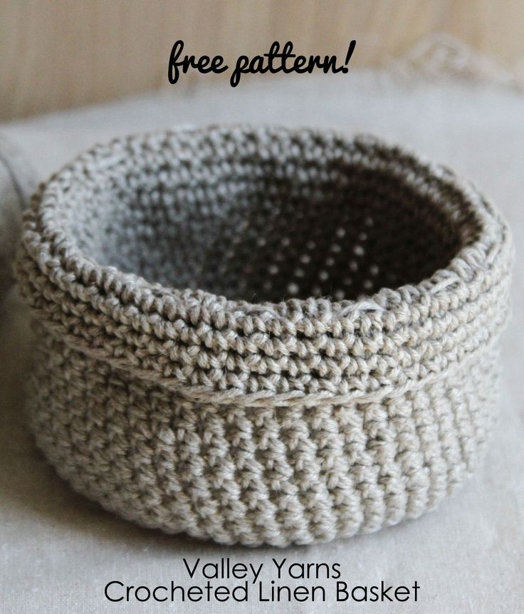 We've had a lot of pattern requests for the crocheted basket that makes frequent appearances in our photos. Here you go! Crocheted in our Valley Yarns 8/6 Wetspun Warp Linen—dare you to crochet just one! #freepattern #crochetbasket