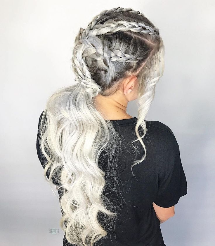 Repost from @theconfessionsofahairstylist - Side view of my Daenerys inspired hairstyle using all @kenraprofessional hair products focusing on their new #kenra Shaping Spray. Did you see my tutorial for this look a few posts back? Color by @maggiemh using @brazilianbondbuilder in the lightener and @societyextensions for extra length.