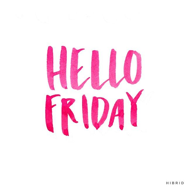 Hello Friday! | Handlettering by Courtney Shelton / HIBRID | #handlettering #typography #brushlettering