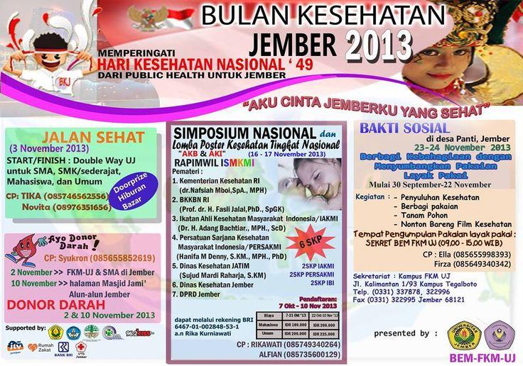 Simposium Nasional dalam Rangka Bulan Kesehatan Jember 2013