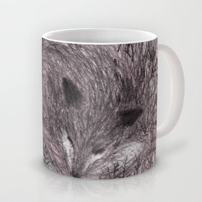 Sleeping fox Mug by Linette No - $16.00