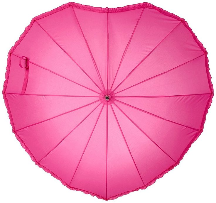 Hot Pink Frilled Heart - February Brolly of the Month - https://www.loveumbrellas.co.uk/collections/frontpage/products/february-brolly-of-the-month