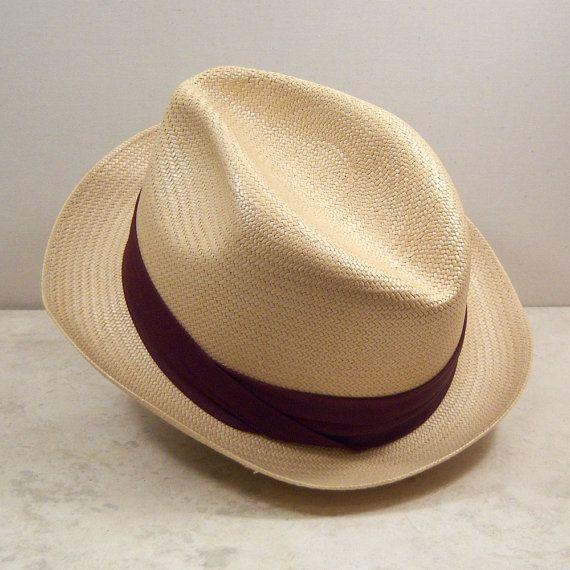 Vintage Hat Straw Fedora
