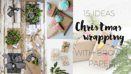 I use brown paper or craft paper for wrapping all my gifts - I just theme it differently. Here are 15 Christmas gift wrapping ideas using brown paper.