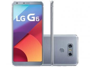 "Smartphone LG G6 32GB Platinum 4G - Câm. 13MP + Selfie 5MP Tela 5.7"" Proc. Quad Core"