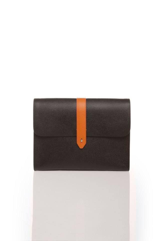 Ami Cocoa Brown Clutch www.akichoklat.com | Aki Choklat | #luxurybag #unisexc #clutch