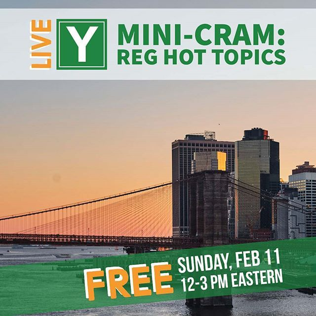 Studying for REG? Introducing #TeamYaeger's first LIVE Mini-CRAM! Join us on Sunday Feb 11 from 12-3 PM EST.  In this FREE 3-hour webinar Phil Yaeger will address several hot topics that many candidates struggle with including:  1. Taxation for Entities (Corporations/Partnerships)  2. Property Transactions  Register today: http://ift.tt/2GIF6jn  #cpaexam #cpacandidate #cpalife #iwillbeacpa #cpa #futureCPA #CPAreview #cpaprep