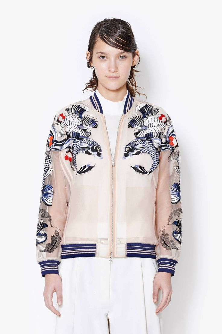 Tattoo Embroidered Organza Jacket #SS14