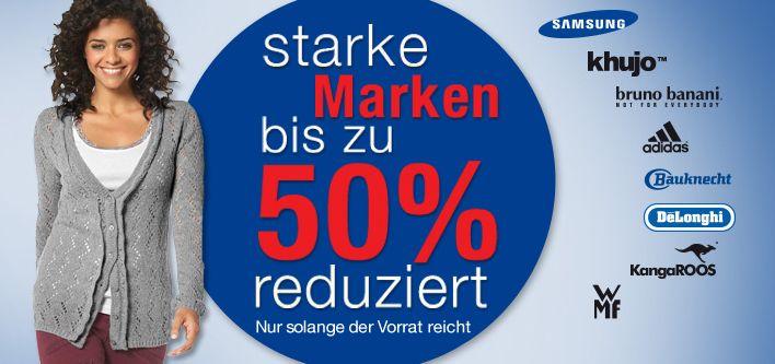 Mit dem #Marken #Sale kommen Schnäppchenjäger auf ihre Kosten. Zahlreiche Produkte sind bis zu 50% reduziert. #MarkenSale