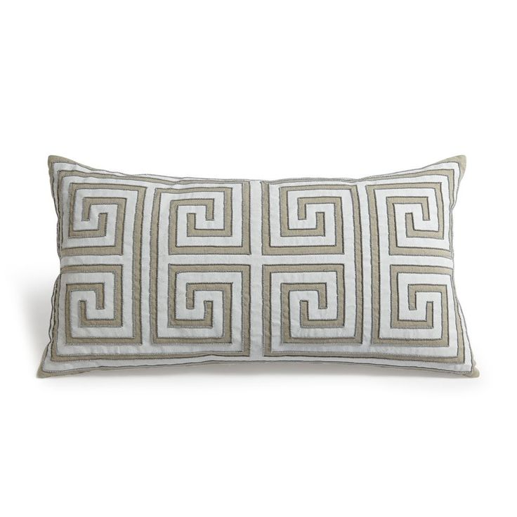 Mitchell Gold Decorative Pillows : Mitchell Gold + Bob Williams Greek Key Pillow, 24