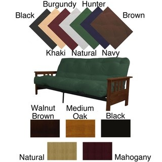 @Overstock - Comfortable and versatile, this queen mission-style frame and mattress futon set features a black finish and a grid style seat and back. This futon frame is easy to accessorize and boldly complements your room decor.http://www.overstock.com/Home-Garden/Provo-Queen-Mission-style-Frame-Mattress-Futon-Set/4291318/product.html?CID=214117 $327.99