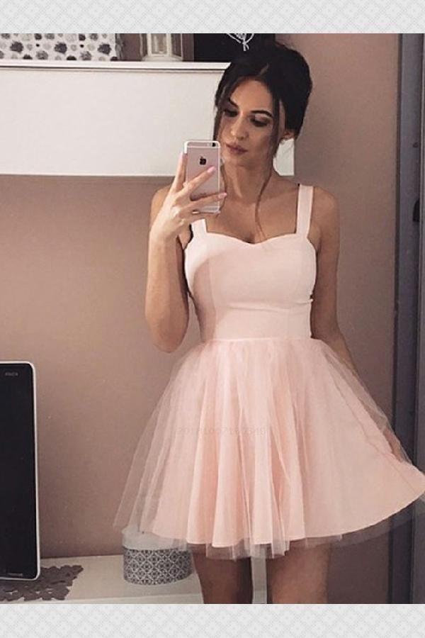 7581ac479123 Homecoming Dresses, A-Line Homecoming Dresses, Pink Homecoming Dresses  #PinkHomecomingDresses #ALineHomecomingDresses #HomecomingDresses  Homecoming Dresses ...