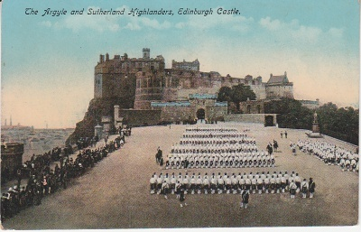 Philco Postcard - The Argyll and Sutherland Highlanders, Edinburgh Castle - 2233