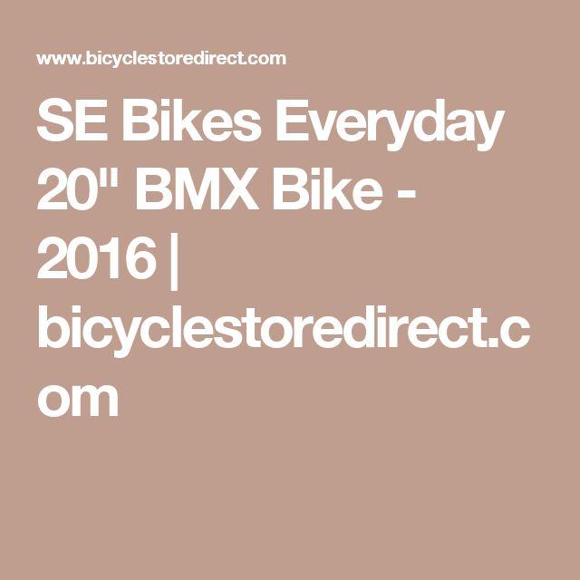 "SE Bikes Everyday 20"" BMX Bike - 2016 | bicyclestoredirect.com"