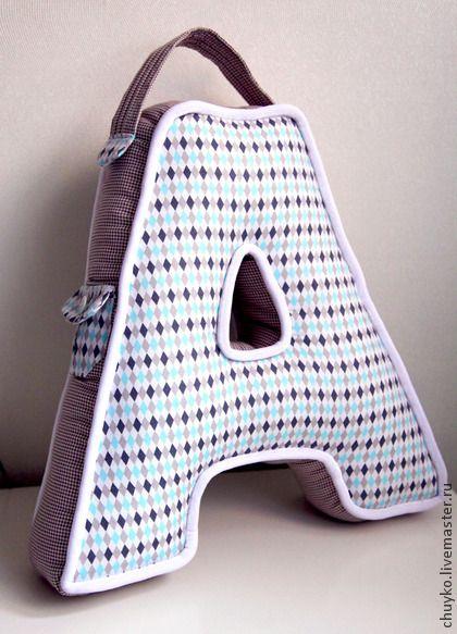 Буква-подушка А - подарок,подушка,подушка декоративная,подушка-игрушка