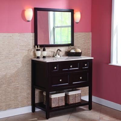 St Paul Ashland 36 Inch Combo With Stone Effects Vanity Top And Wall Mirro