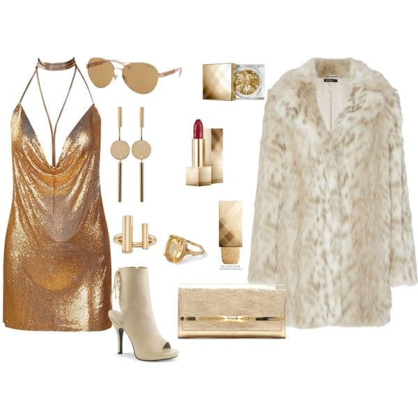How to...Party in pure gold mood by vicky-angelidou-pappas on Polyvore featuring Jimmy Choo, Chupi, Isabel Marant, French Connection, Michael Kors and Burberry