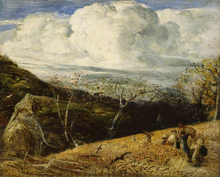 Samuel Palmer - The White Cloud, c. 1833–1834, Oil on canvas, 22.3 x 27.4 cm, The Ashmolean Museum of Art and Archaeology