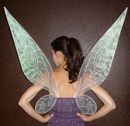 Disney Tinkerbell Sparkling Sheer Fairy Wings Costume for adults