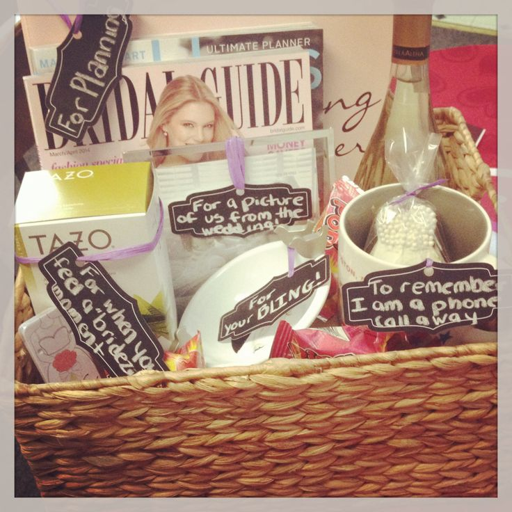 Engagement basket! Inspired by Hostingandtoasting.com!