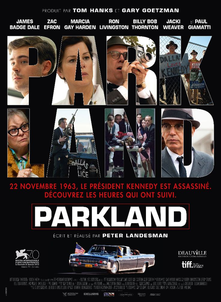Produced by Tom Hanks Bill Paxton, and directed by Peter Landesman Parkland tells the story of the immediate Aftermath of the Assassination on the main players taking their place in history and time. Description from caseycorpier.blogspot.com. I searched for this on bing.com/images